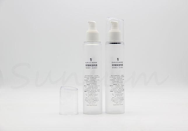 Cosmetic Transparent Matt Empty Lotion Mist Pump Spray Bottle