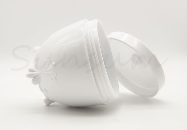 Unique Shape Cosmetic PET Plastic Packaging Cream Jar