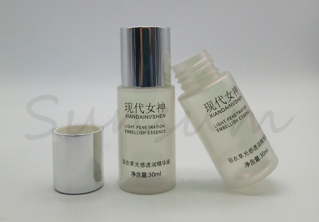 30ml Pearly Lustre PET Plastic Lotion Bottle For Skin Care With Screw Cap