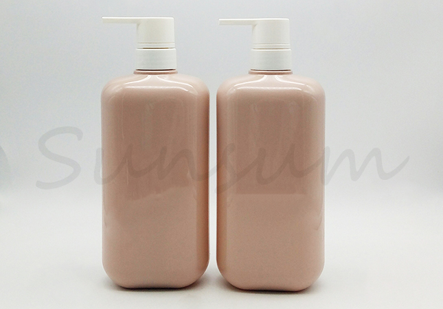 Customized Logo PET Plastic Shampoo And Shower Gel Bottle
