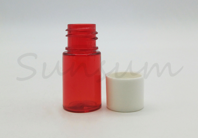 Customized Logo PET Plastic Bottle With Screw Cap For Skin Care