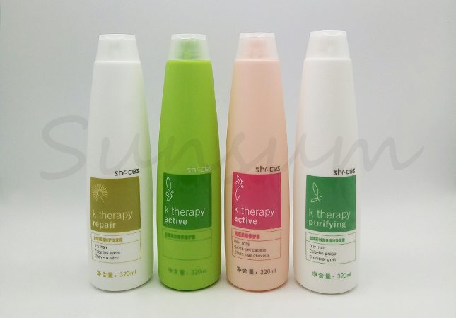 HDPE Customized Shampoo And Shower Gel Bottle With Flip Top Cap