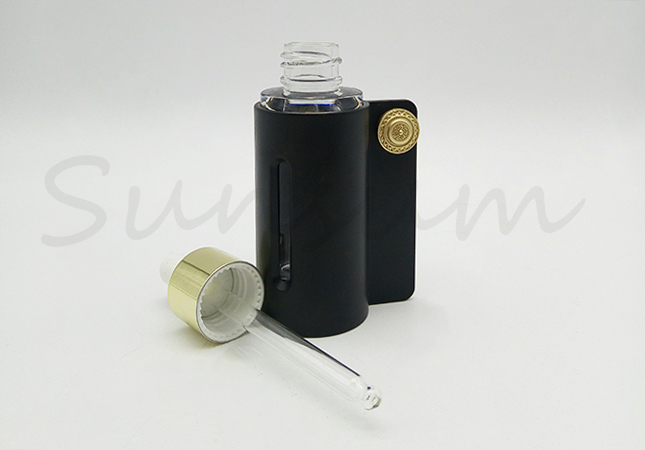 Custom Dropper Clear Thick-Walled Bottle For Skin Care