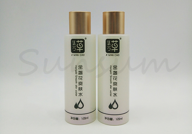 120ml Customized PET Plastic Bottle With Screw Cap For Skin Care
