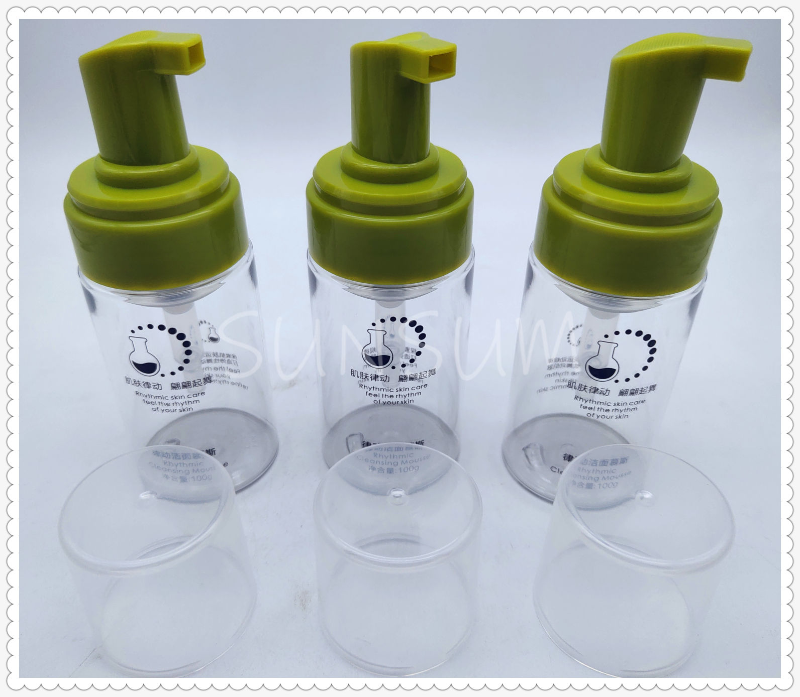 Cosmetic Lotion Skin Facial Cleanser Form Bottle
