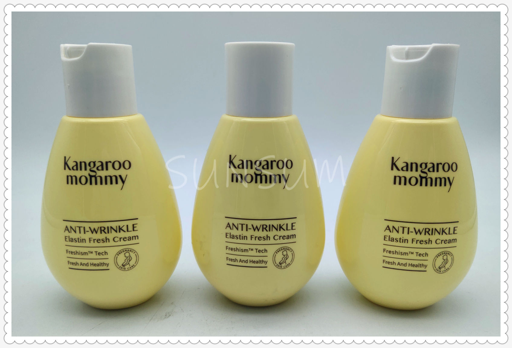 yellow color cute small bottle for baby lotion