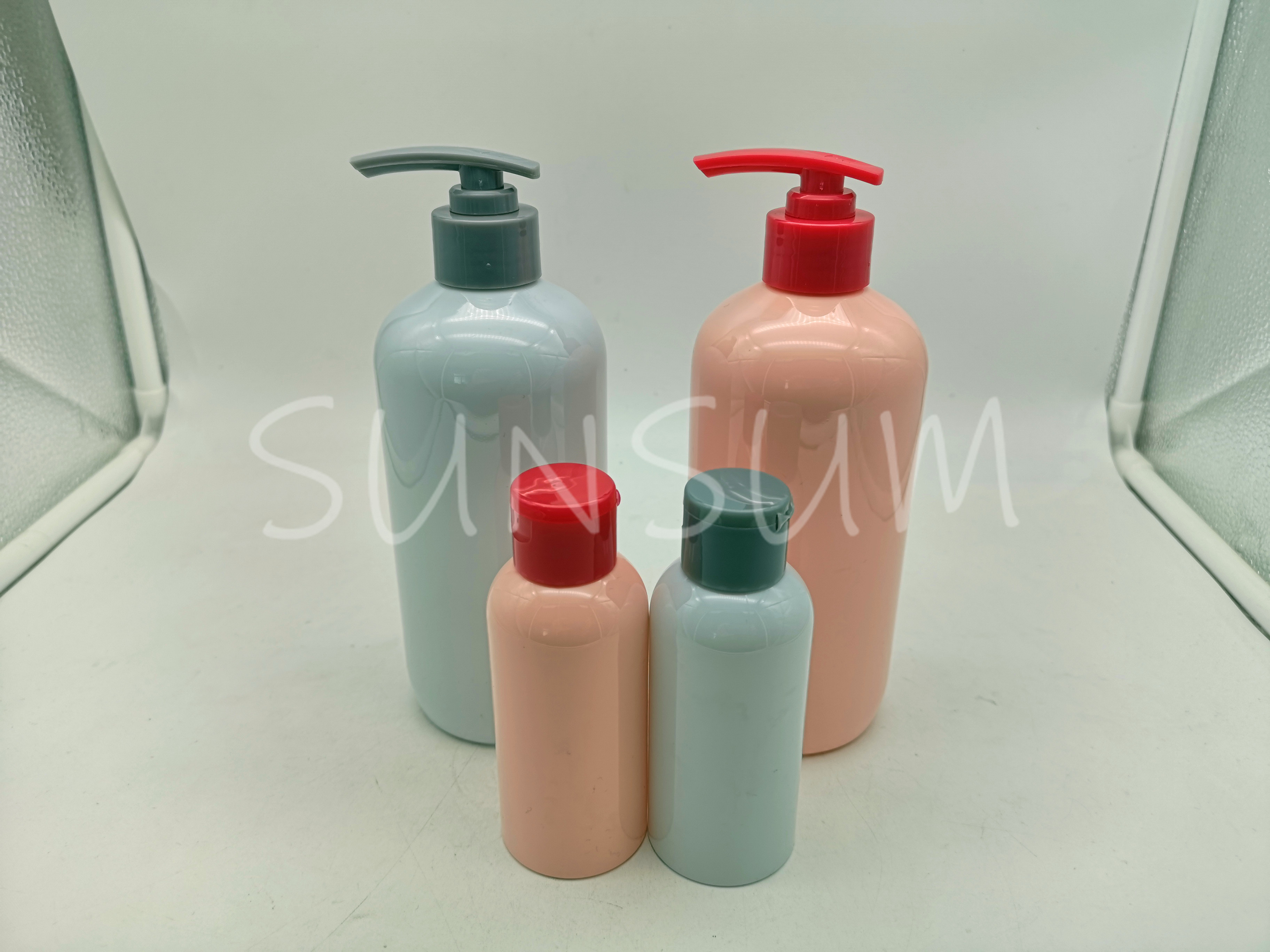 400ml Cosmetic Lotion Pump Care Body Bottle