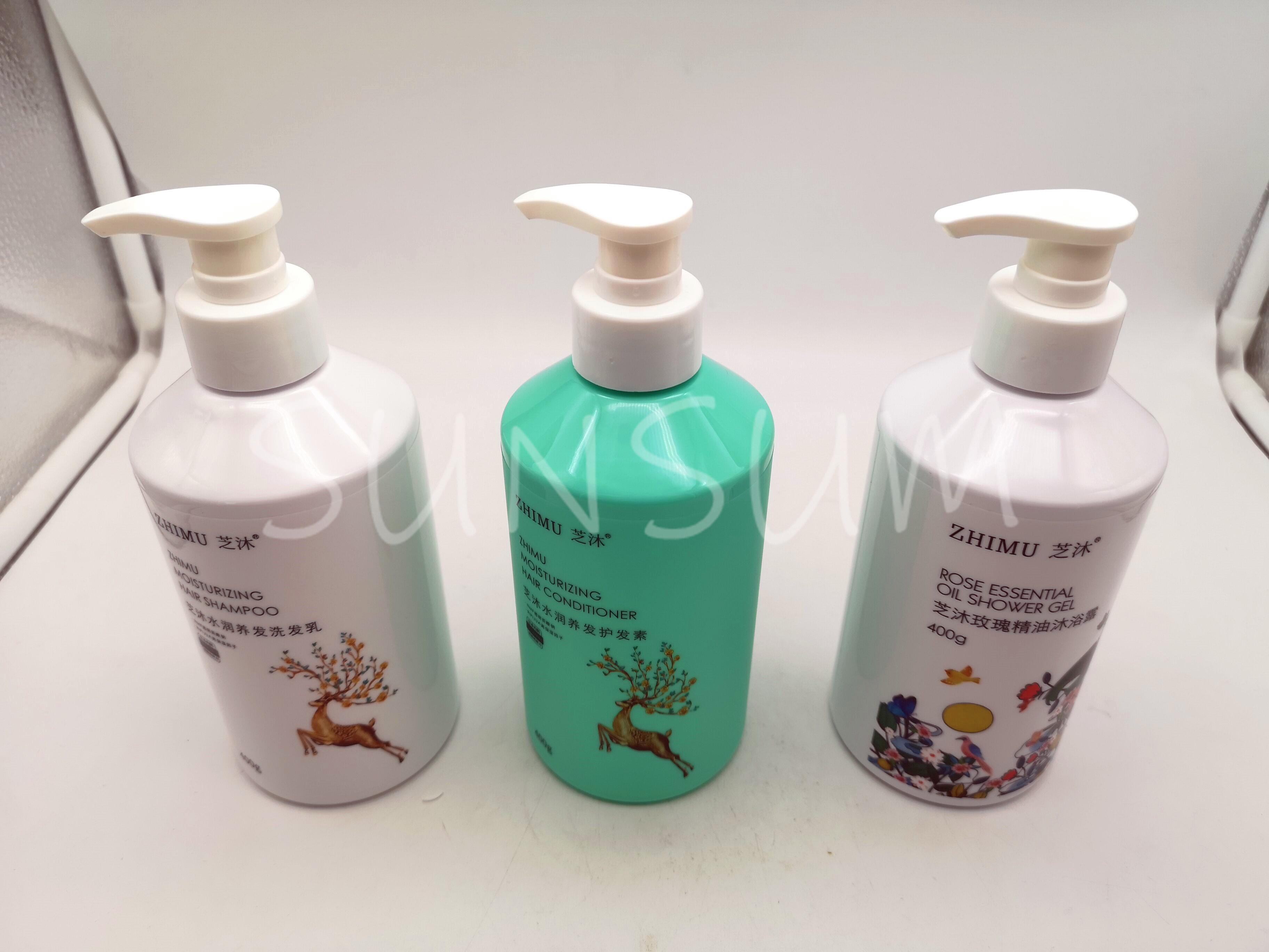 Customized Logo PET Shampoo And Shower Gel Bottle