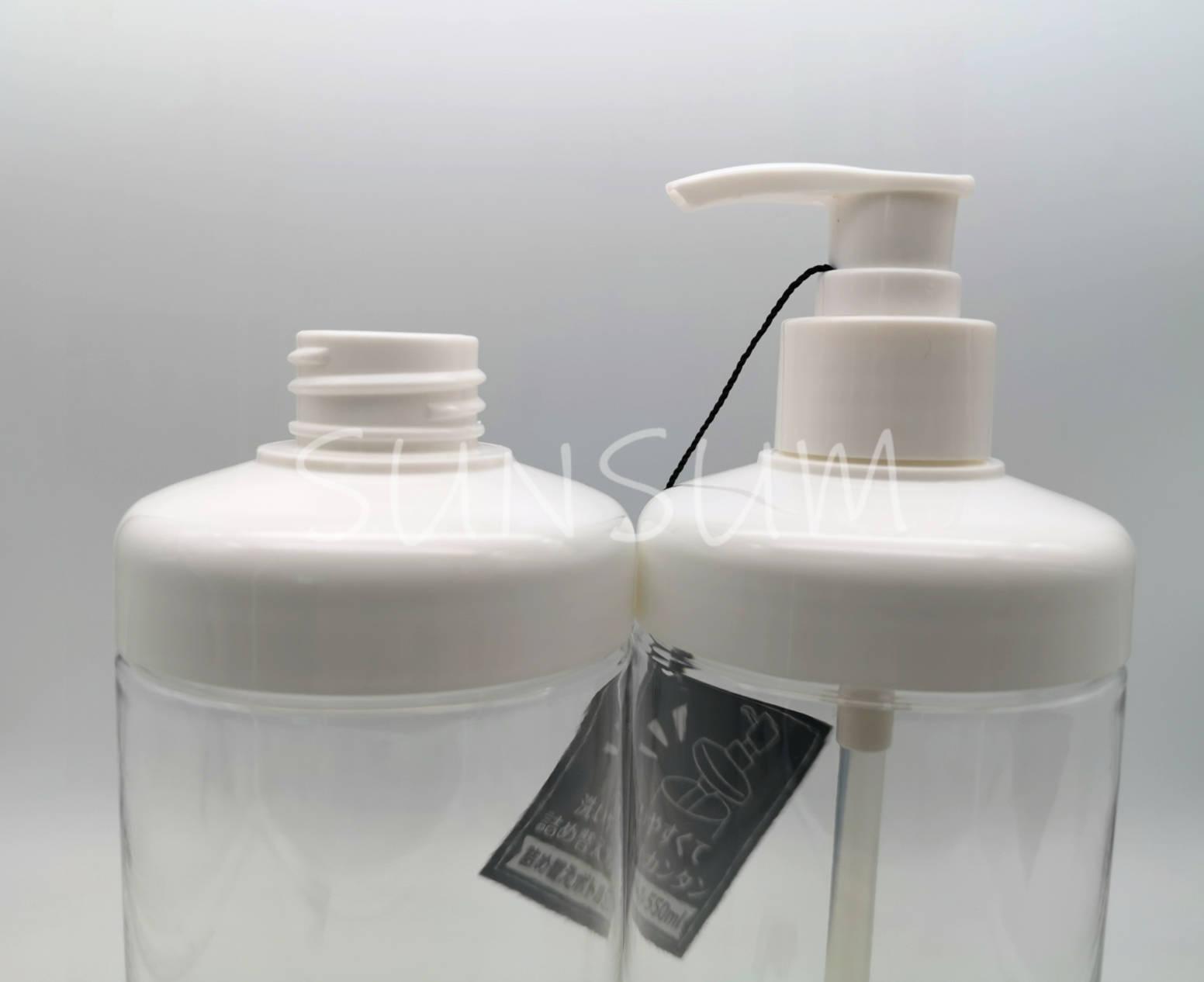 500ml shampoo bottle with pump