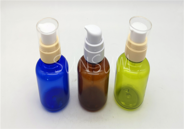 120ml low profile fat colorful transparent face serum bottle