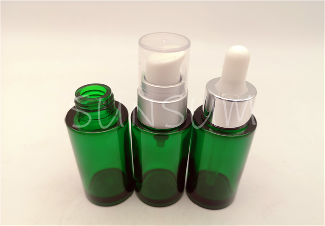 30ml glass view heavy wall high quality transparent dropper serum bottle