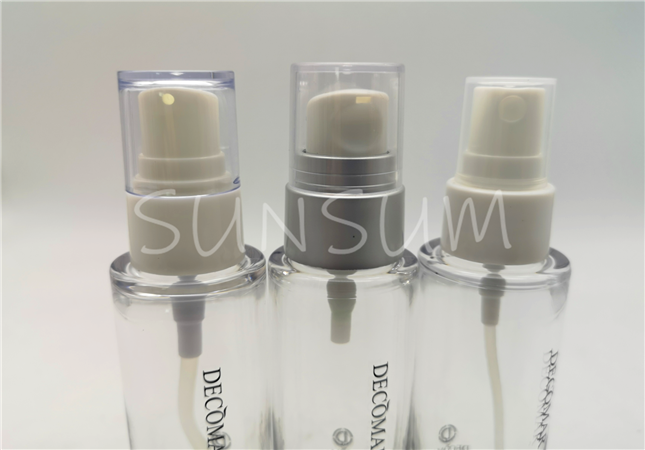 50ml glass view heavy wall high quality transparent lotion spray serum bottle