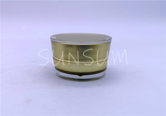 15g metal coating gold ring hydra serum acrylic jar