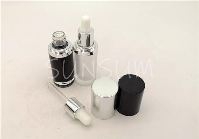 5ml mini size luxury La strongcome Genifique glass view dropper cap acrylic bottle