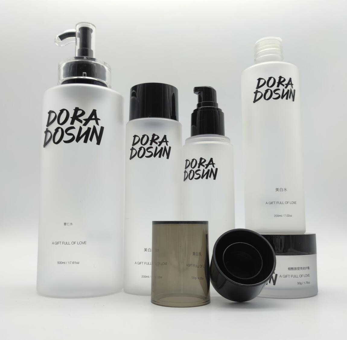 Skincare packaging luxury frosted lotion bottle 30ml 100ml 120ml 500ml 30g 50g
